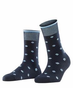 Rolled Cuff & Dots Socks - 6120/marine