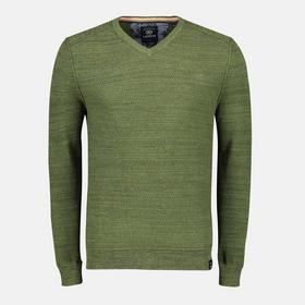 Lerros Gerippter Pullover mit V-Ausschnitt