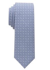 ETERNA Krawatte blau/weiß gemustert 6,0 cm