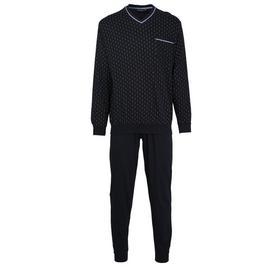 Pyjama, V-Ausschn , Bndchen, Navy