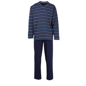Pyjama, V-Ausschn., offen, evening blue