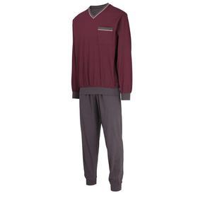 Pyjama, V-Ausschn., Bündchen