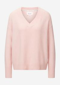 Pullover Long Sleeve, V Neck, Faded pink
