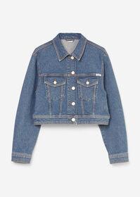 Denim Jacket, Oversized Fit, Croppe