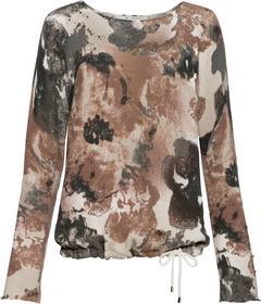 Rundhals-Pullover mit Blumendruck