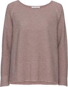 Rundhals-Pullover mit Reiskorn-Effekt aus Lurexgarn