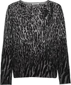 Rundhals-Pullover mit Leodruck