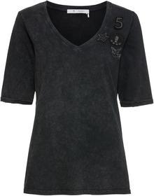 Shirt mit V-Ausschnitt und Patches