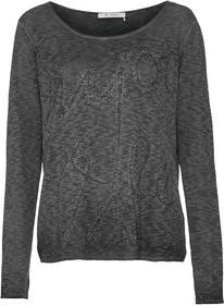 Rundhals-Pullover mit Cold-Dyed Effekt und Strass Schrift