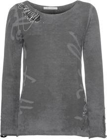 Rundhals-Pullover links bedruckt mit Schmuck