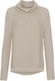Rollkragen-Pullover mit Linksstruktur