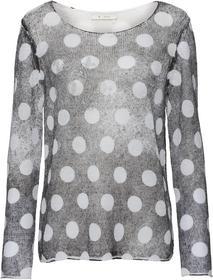 Sprühdruck-Pullover mit Allover-Punktedruck und Nieten