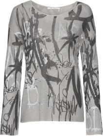 Pullover mit Allover-Graffitidruck und Nietendetails
