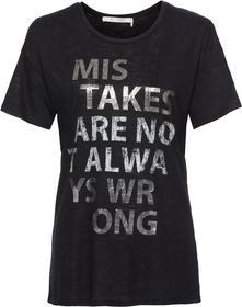 gerade geschnittenes Shirt mit Lack- und Glitterdruck