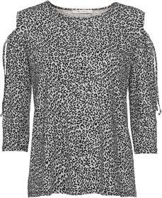 Shirt mit Allover-Leo-Print und Cut-out an den Schultern