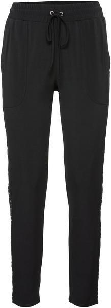 Jogger-Hose mit elastischem Bund und Nietenband