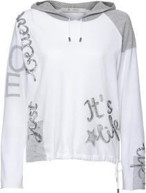 Kapuzen-Pullover mit Paillettenschrift-Details