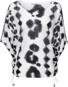 Oversize-Pullover mit Allover-Leoprint und Paillettendetails