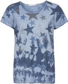 Shirt mit Allover-Sternedruck und Nietenapplikationen