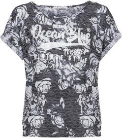 Shirt mit Allover-Blumen-Print und Schriftzug