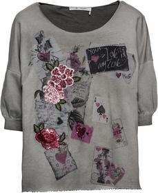 Sweatshirt mit Karten-Print, Pailletten und Stickerei