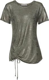 Shirt mit Allover-Lackdruckbeschichtung und Tunnelzug
