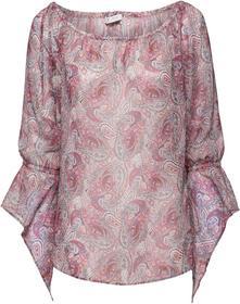 Bluse mit Carmenausschnitt und Allover-Paisleydruck