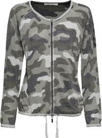 Jacke mit Allover-Lurexgarn, Camouflagemuster und Strass