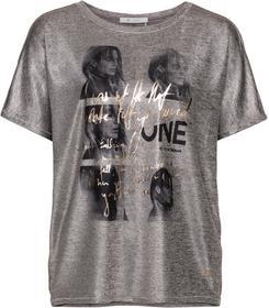Oversize-Shirt mit Fotodruck und Lackschriftzug