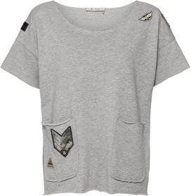 Sweatshirt mit Taschen und Patches mit Nieten und Glitter