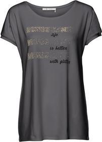 Shirt mit Schriftzug und Glitterdetails