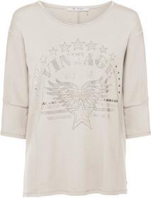 Oversize-Sweatshirt mit Strass- und Nietenapplikationen