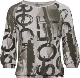 Pullover khaki cold dye