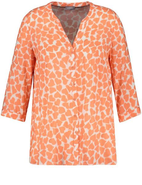 BLUSE 3/4 ARM - 06332/FUSION CORAL GEMUSTERT