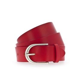 35 mm Ledergürtel, rot