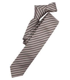 Venti Krawatte Einheitsgröße - Beige - gestreift - 100% Seide