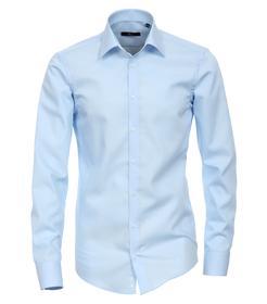 Venti Hemd Slim Fit Größe 41 - Azurblau - 100% Baumwolle