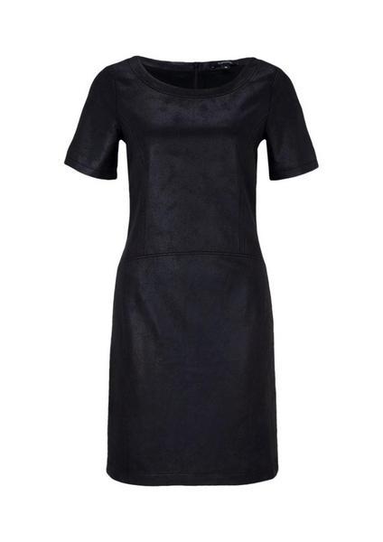 Fake-Leder Kleid