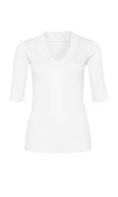 Shirt mit gerüschtem Ausschnitt