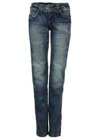 HOSE LOW-STRAIGHT, blue denim, heavy stone w