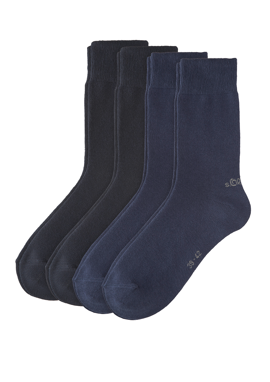 Unisex Classic Socks 4p, navy