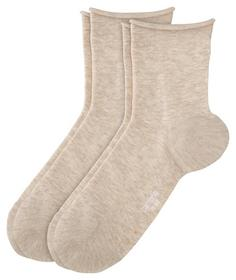 Fashion Ankle Socks Cotton Fine 2p - 0065/desert m