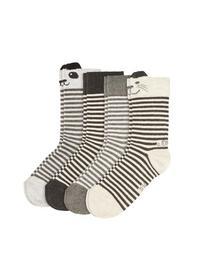 Junior Fashion Socks 4p - 9000/cloud melange