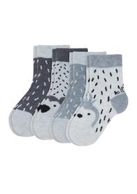 Baby Fashion Socks 4p - 5200/ciel melange