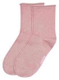 Woman fashion Socks 2P - 4290/silver rose