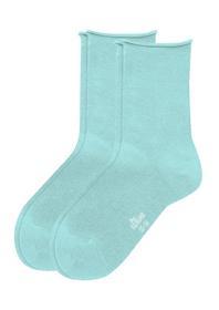 Women Basic Socks 2p - 6006/blue tint