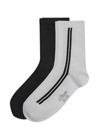 Women Fashion Socks 2p - 1000/white