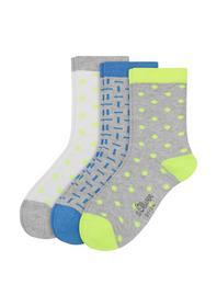 Junior Fashion Socks 3p - 0710/neon yellow