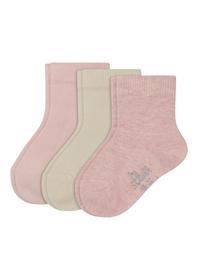 Baby Basic Socks 3p - 4202/rose melange mix
