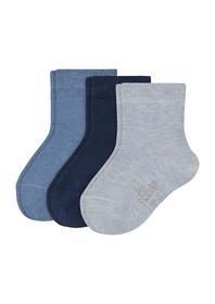 Baby Basic Socks 3p - 5203/ciel mix